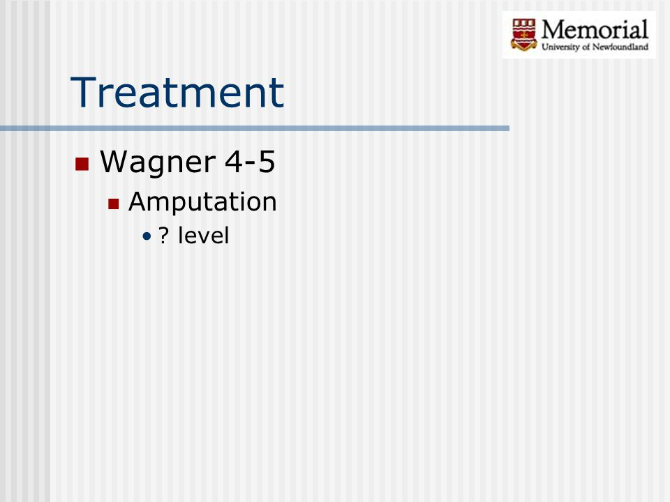 Treatment Wagner 4-5 Amputation level