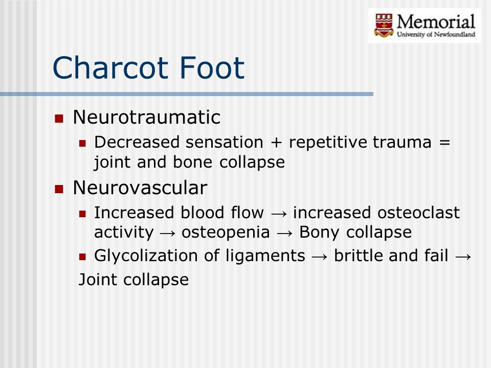 Charcot Foot Neurotraumatic Neurovascular
