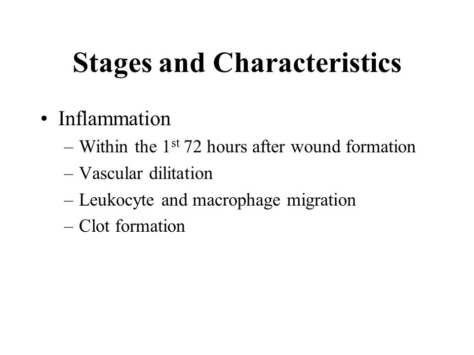 Stages and Characteristics