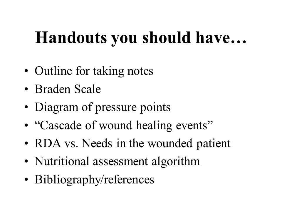 Handouts you should have…