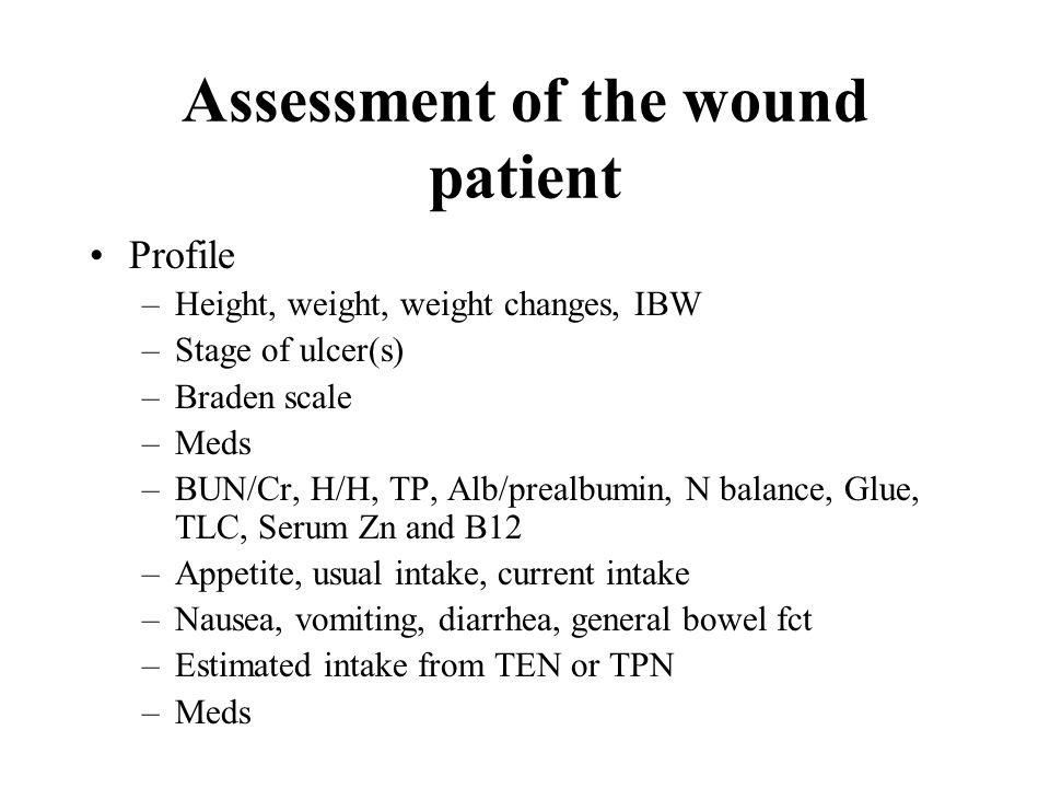 Assessment of the wound patient