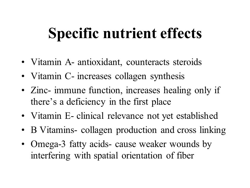 Specific nutrient effects