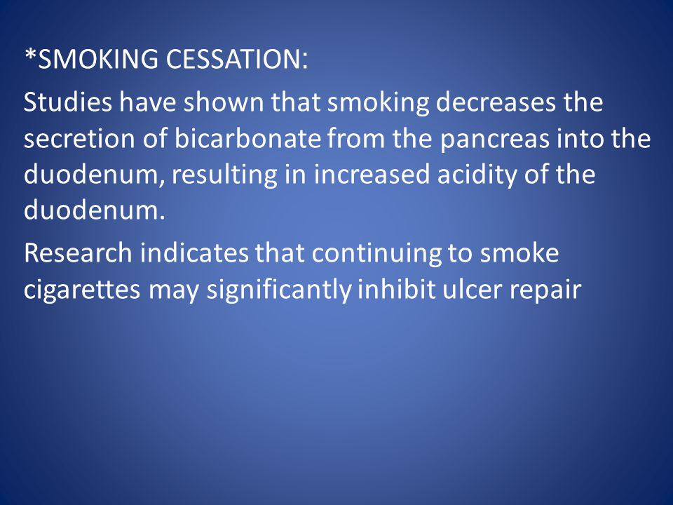 :*SMOKING CESSATION