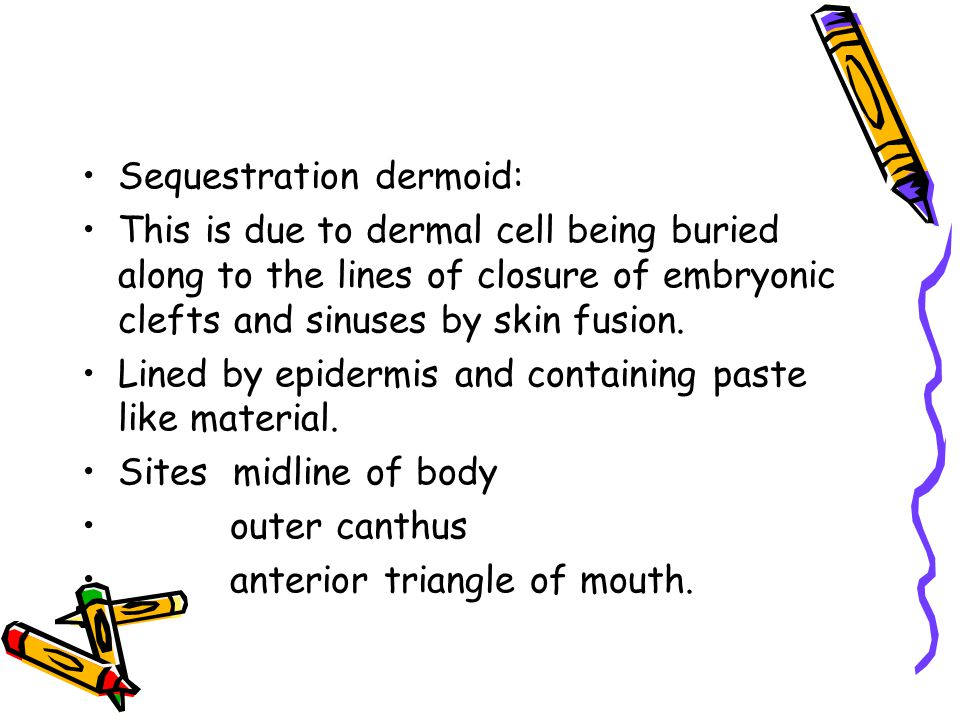 Sequestration dermoid: