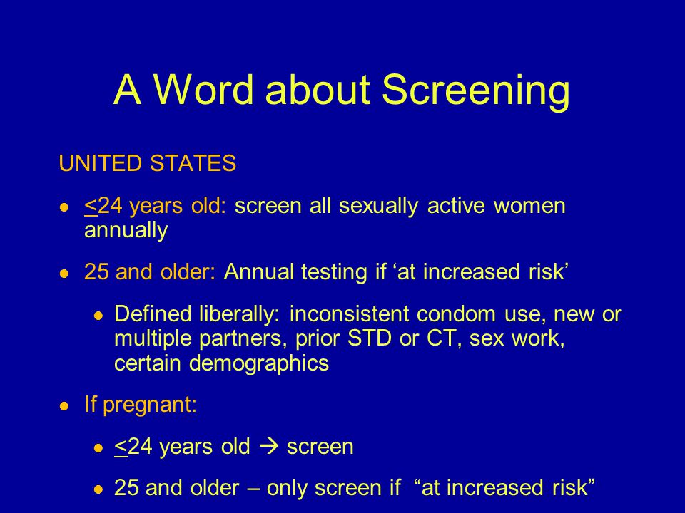 A Word about Screening UNITED STATES