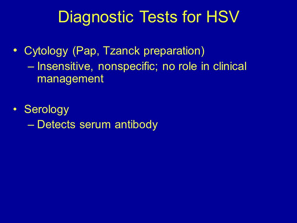Diagnostic Tests for HSV
