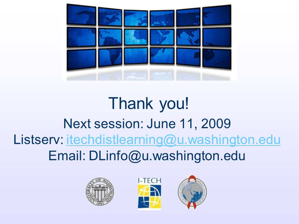 Listserv: itechdistlearning@u.washington.edu
