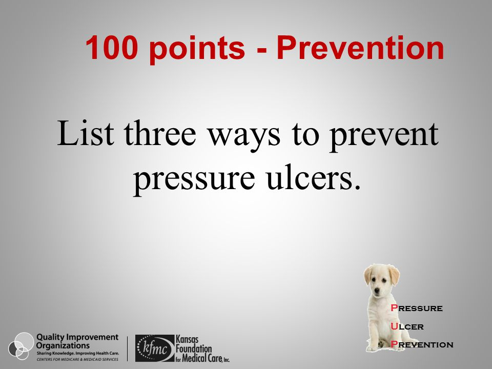 List three ways to prevent