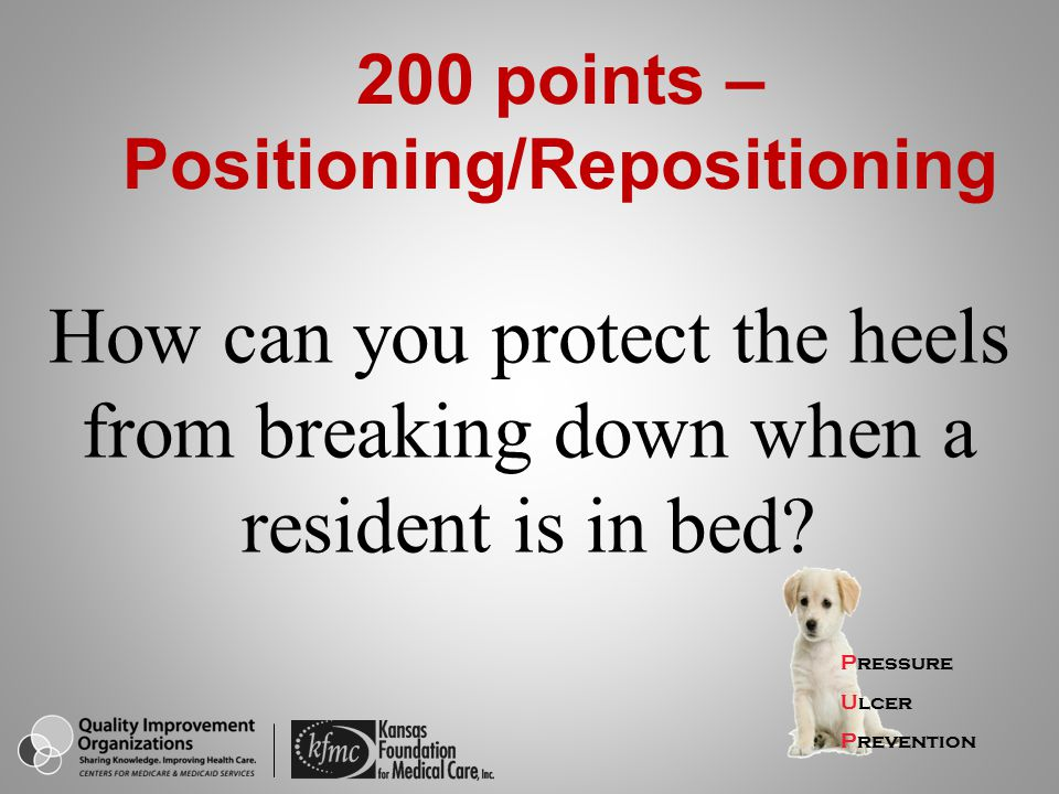 200 points – Positioning/Repositioning