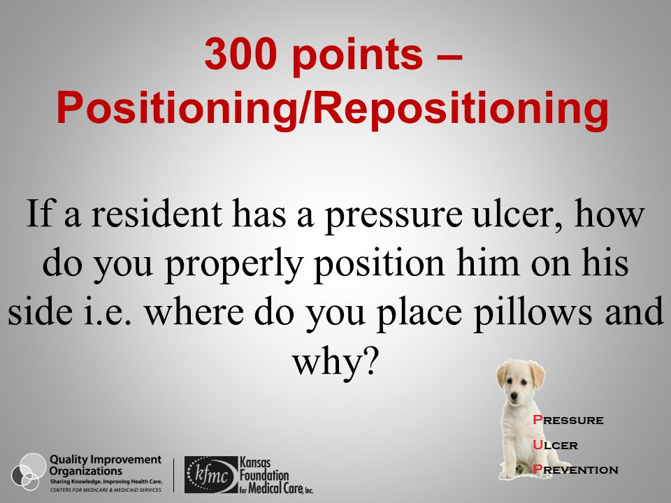 300 points – Positioning/Repositioning