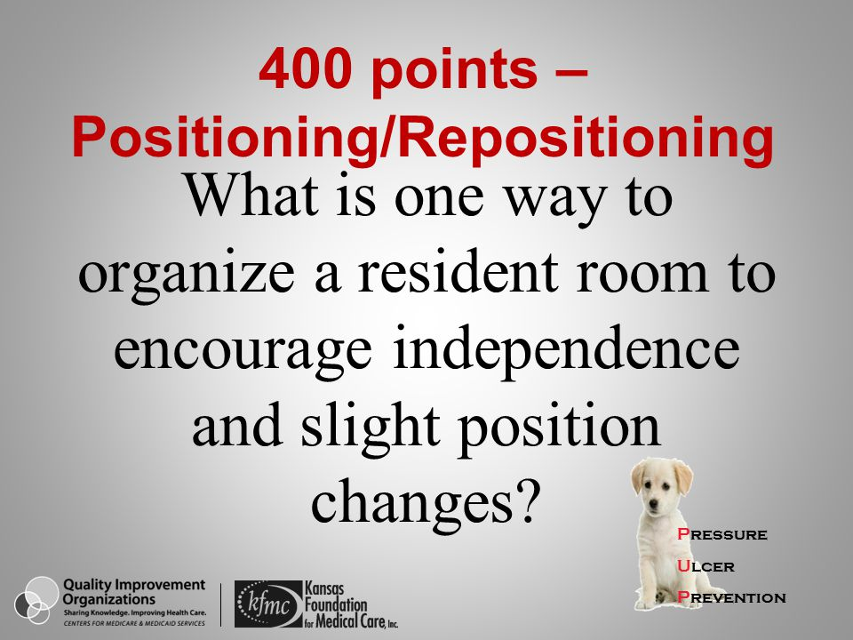400 points – Positioning/Repositioning
