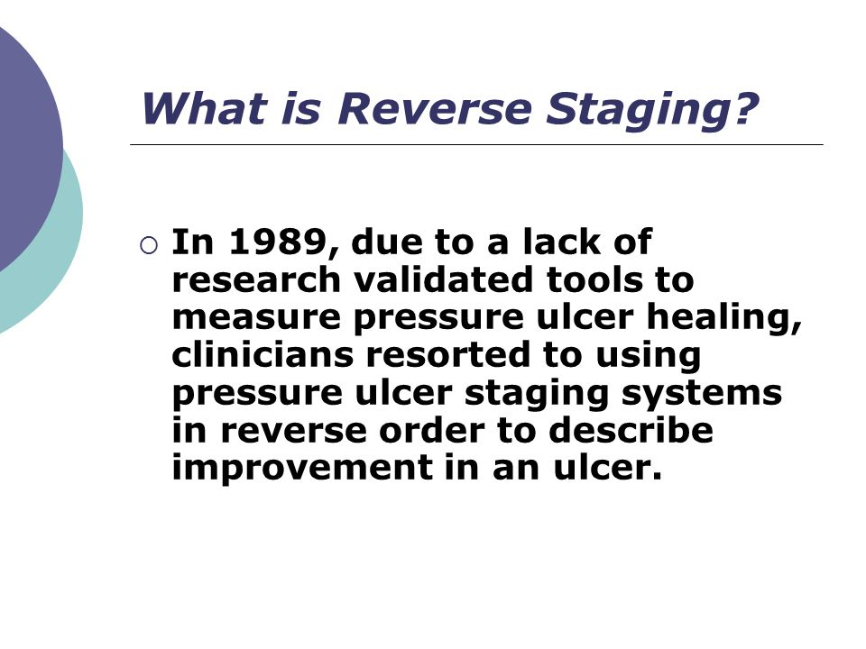 What is Reverse Staging