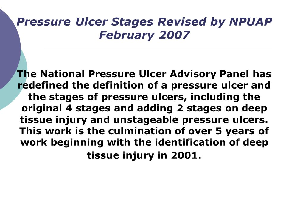 Pressure Ulcer Stages Revised by NPUAP