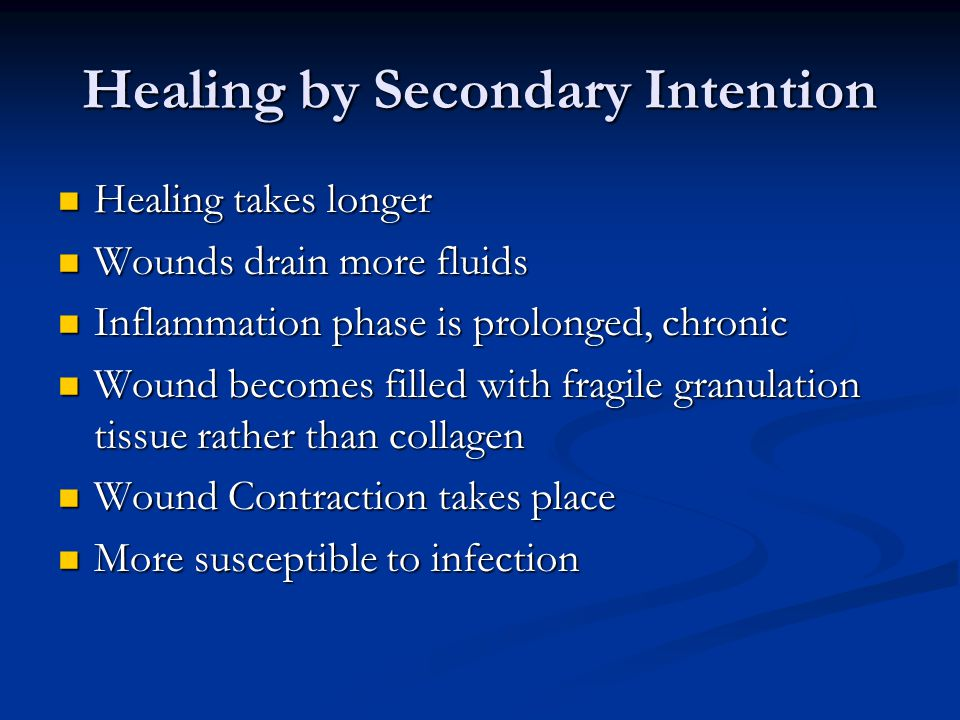 Healing by Secondary Intention