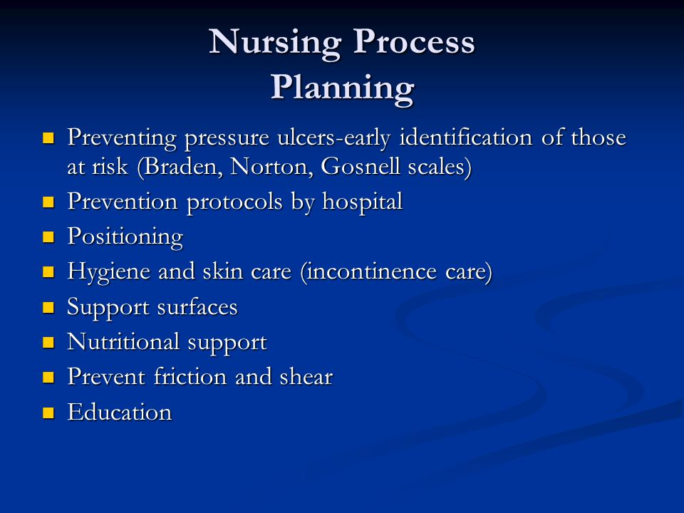 Nursing Process Planning