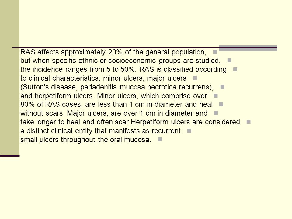 RAS affects approximately 20% of the general population,