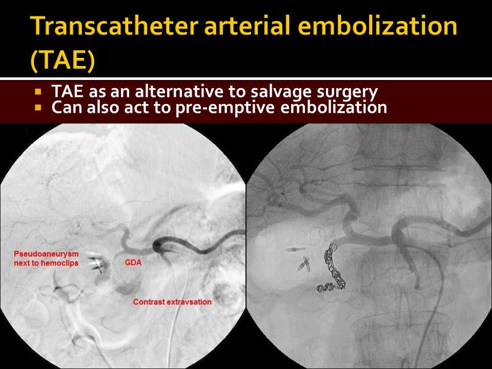 Transcatheter arterial embolization (TAE)