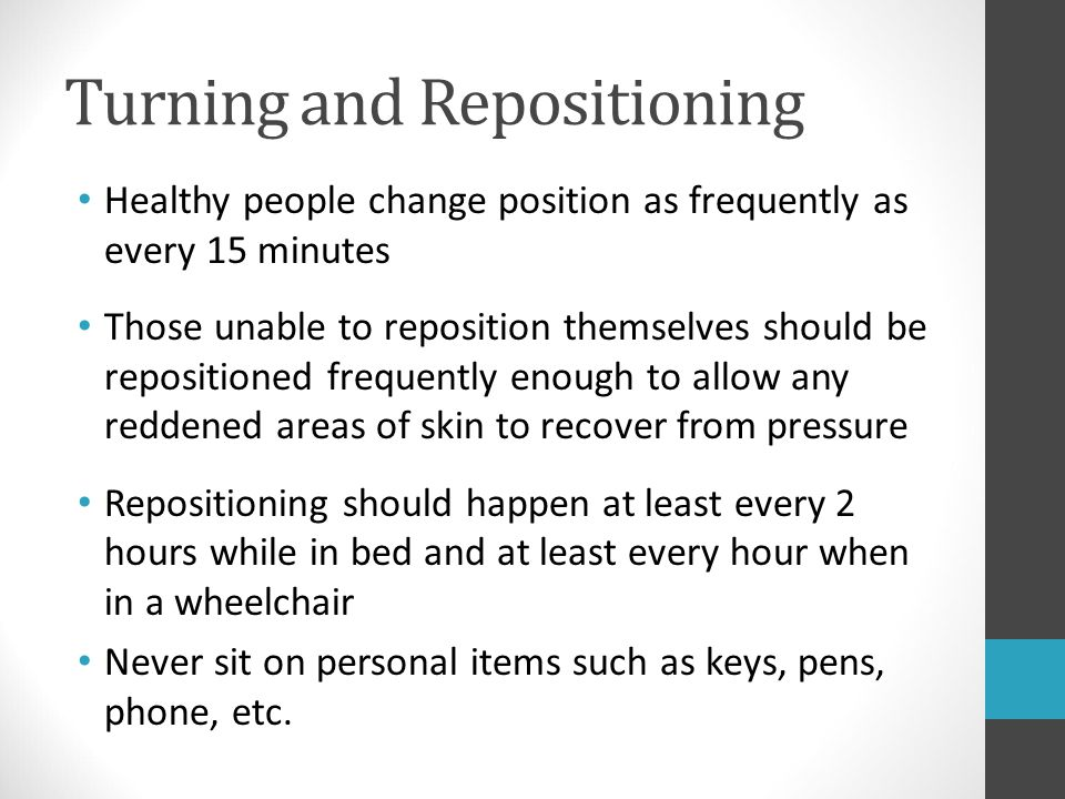Turning and Repositioning