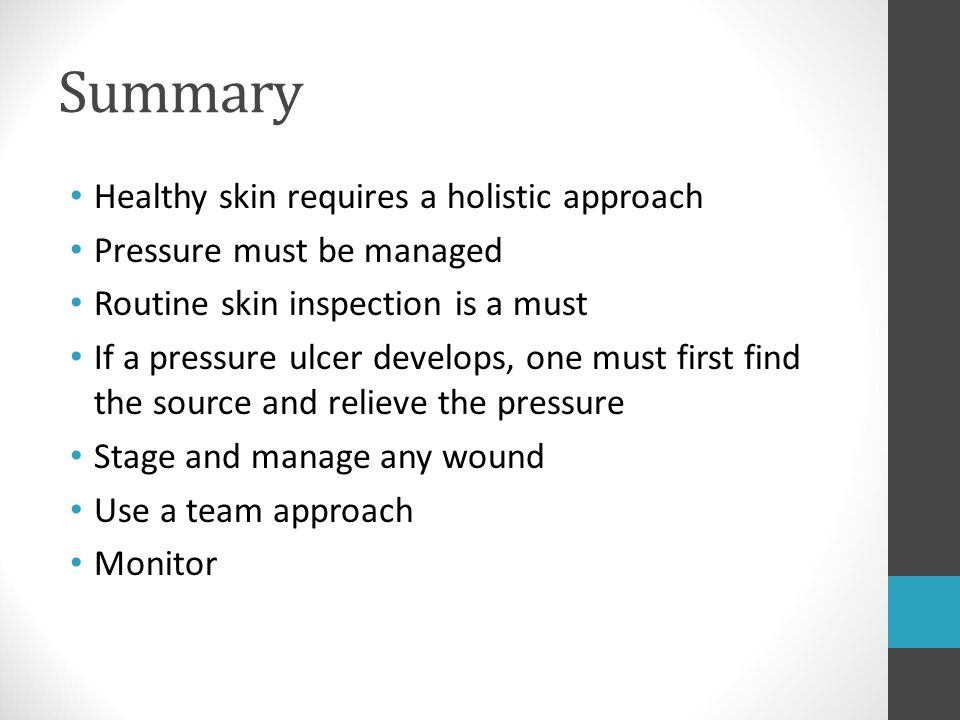 Summary Healthy skin requires a holistic approach