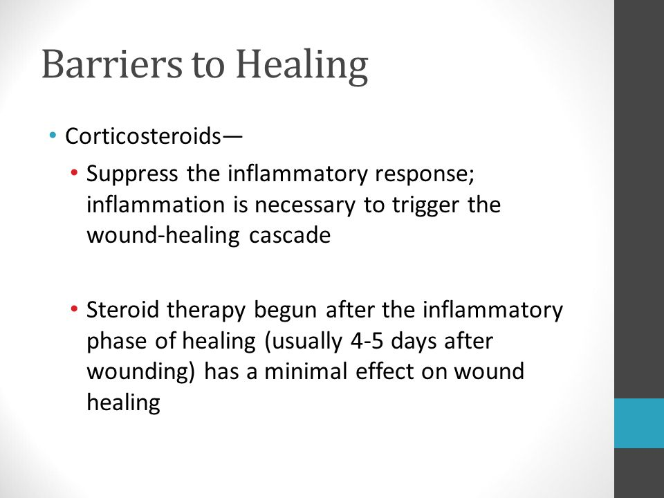 Barriers to Healing Corticosteroids—