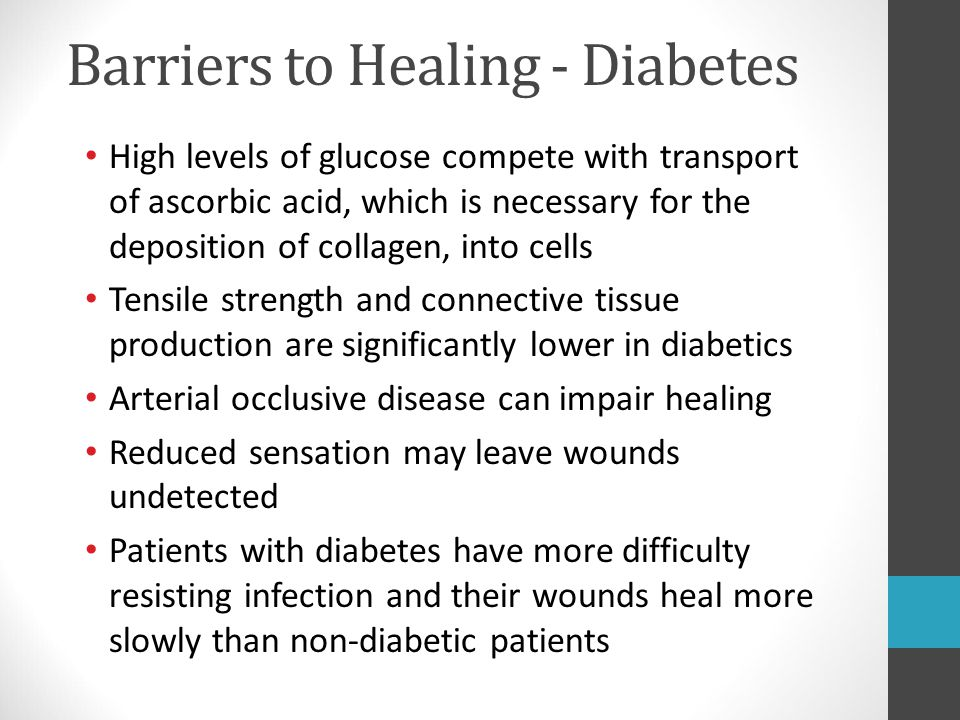 Barriers to Healing - Diabetes