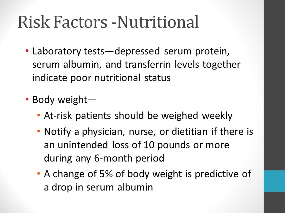 Risk Factors -Nutritional