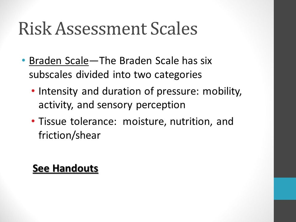 Risk Assessment Scales