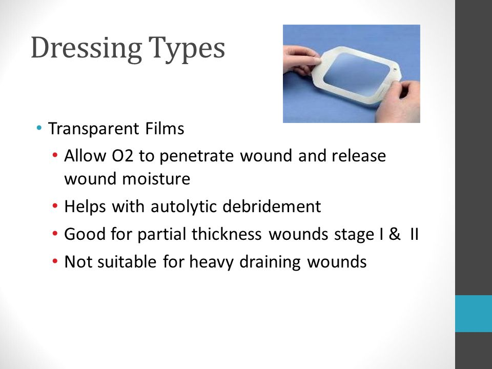 Dressing Types Transparent Films