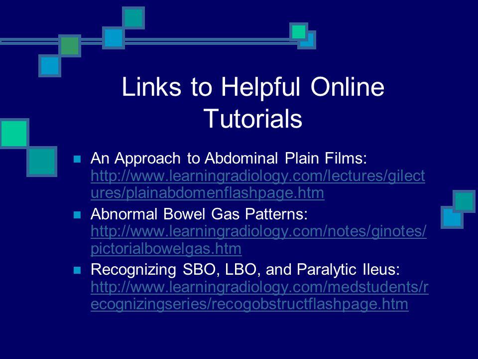 Links to Helpful Online Tutorials