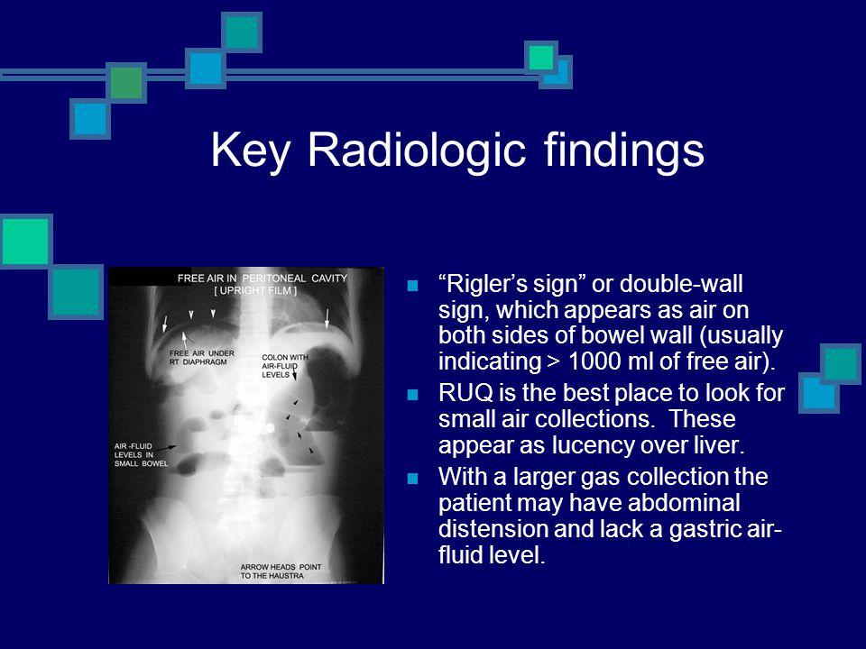Key Radiologic findings