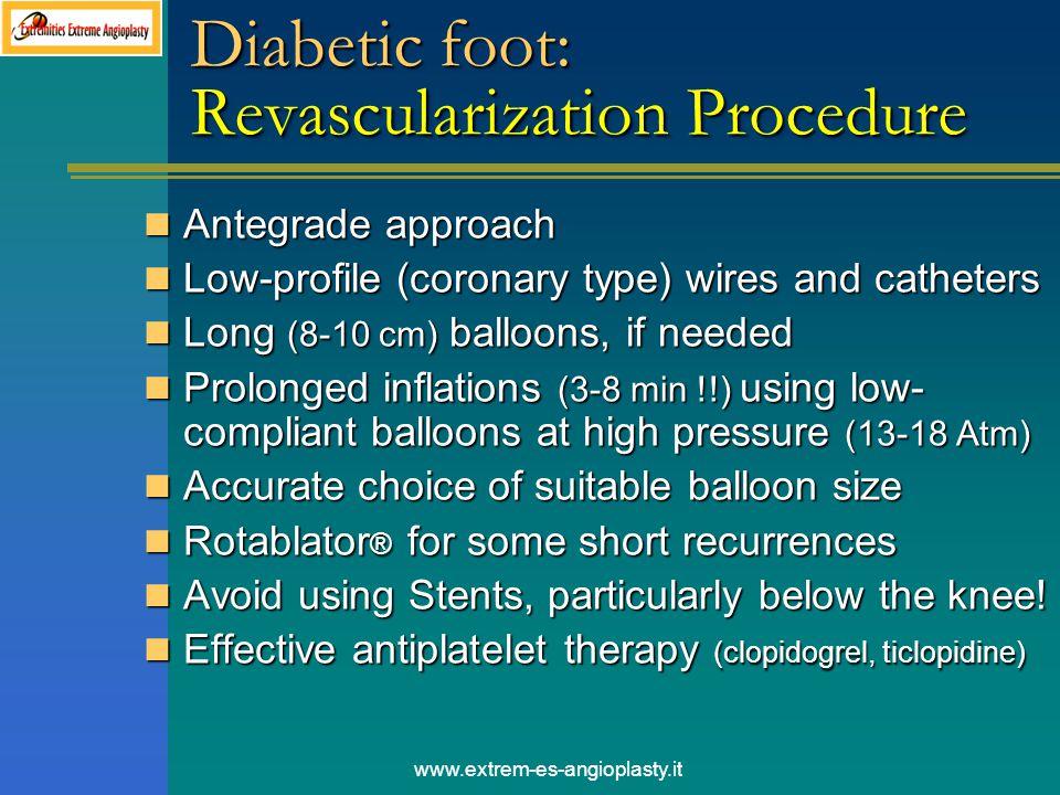 Diabetic foot: Revascularization Procedure