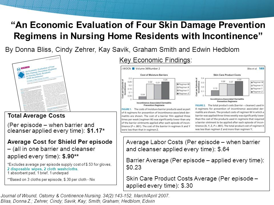 4/15/2017 An Economic Evaluation of Four Skin Damage Prevention Regimens in Nursing Home Residents with Incontinence