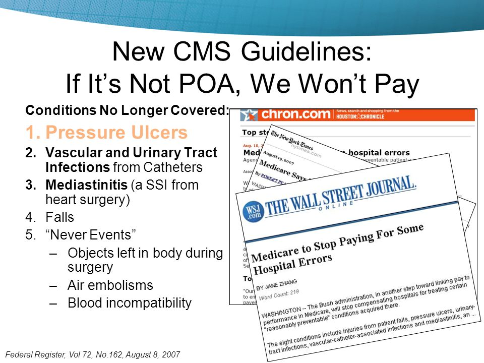 New CMS Guidelines: If It's Not POA, We Won't Pay