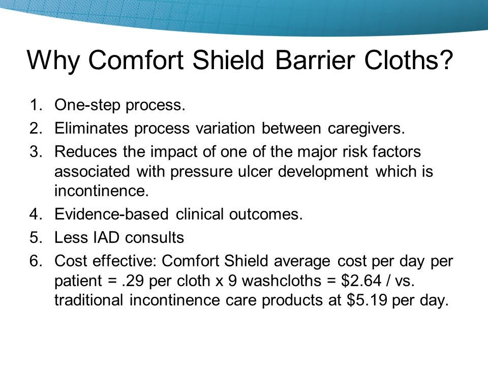 Why Comfort Shield Barrier Cloths
