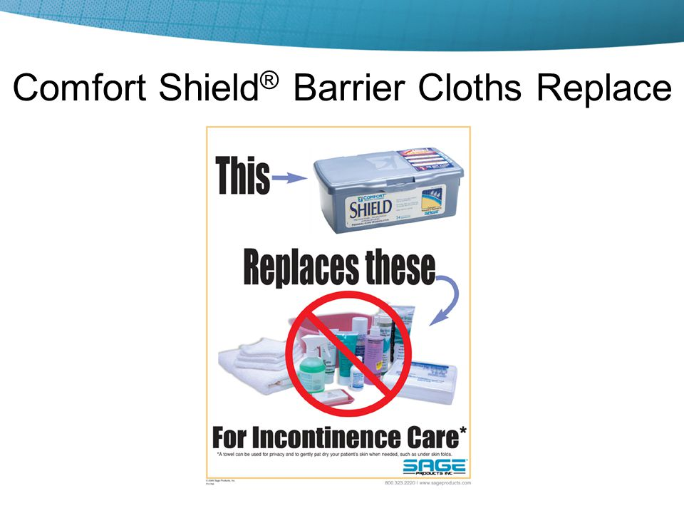 Comfort Shield® Barrier Cloths Replace