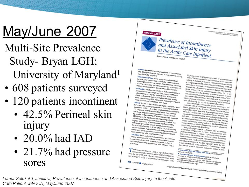 May/June 2007 Multi-Site Prevalence Study- Bryan LGH;