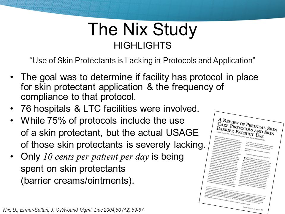 The Nix Study HIGHLIGHTS