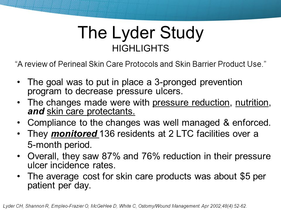 The Lyder Study HIGHLIGHTS