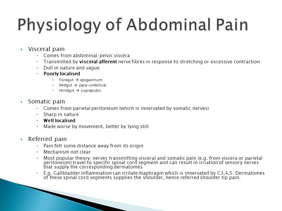 Physiology of Abdominal Pain
