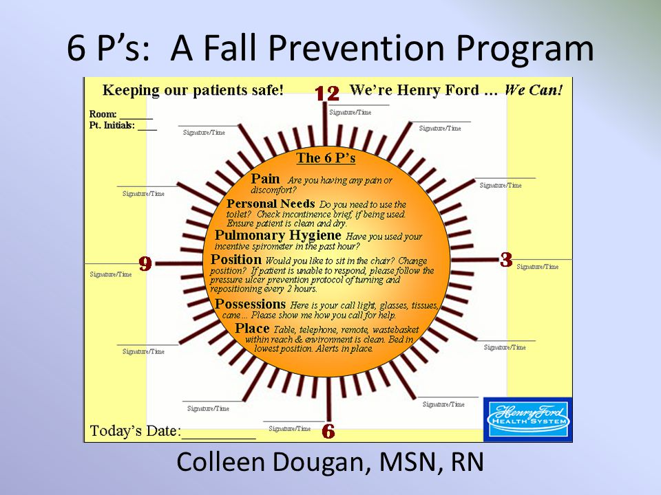 6 P S A Fall Prevention Program Ppt Video Online Download