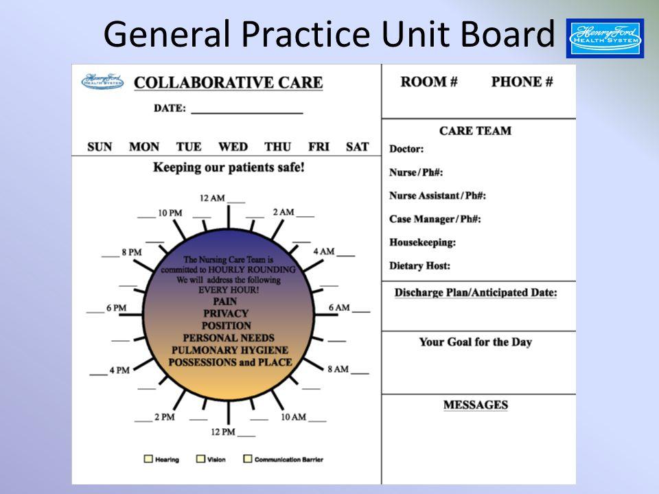 General Practice Unit Board