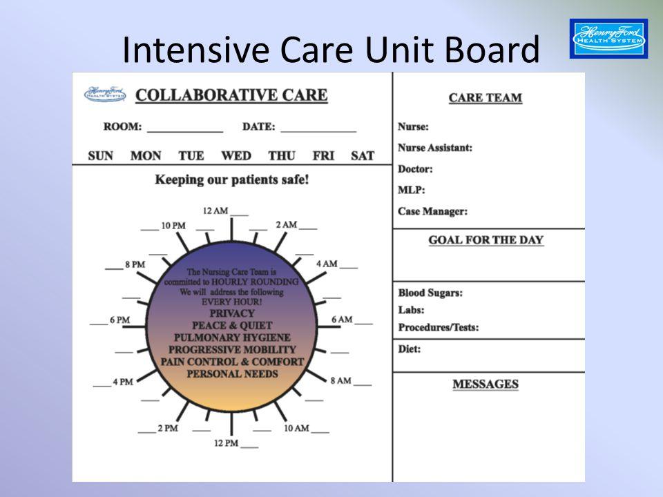 Intensive Care Unit Board