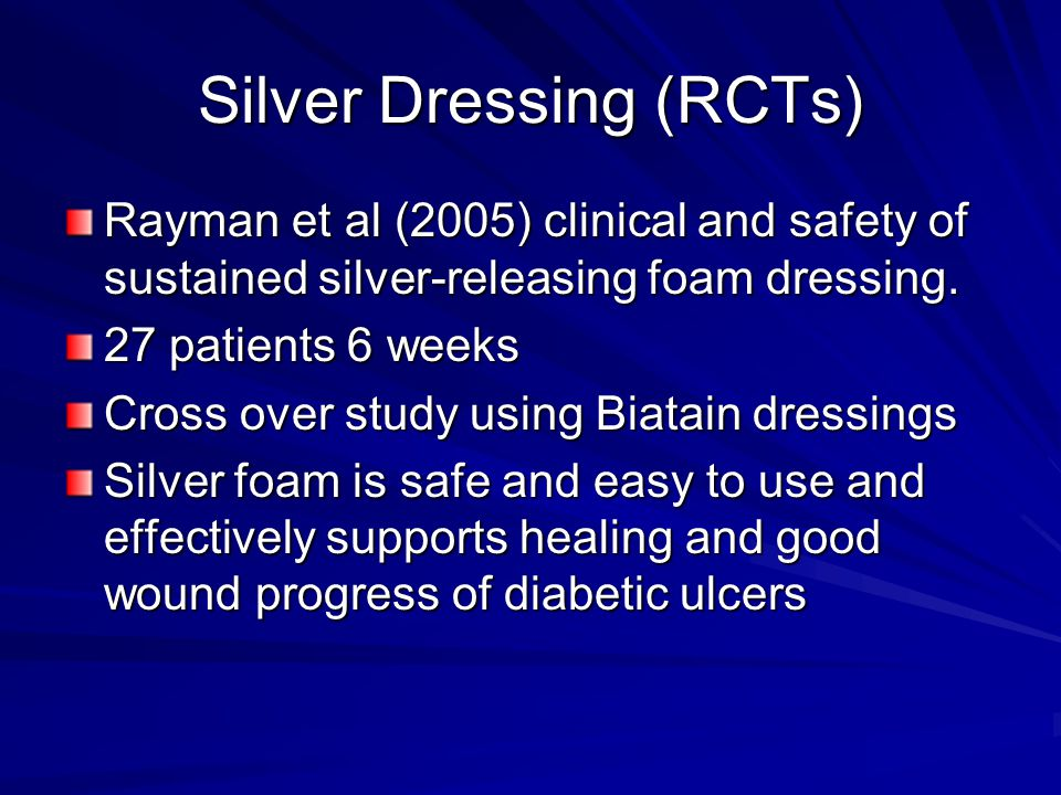 Silver Dressing (RCTs)