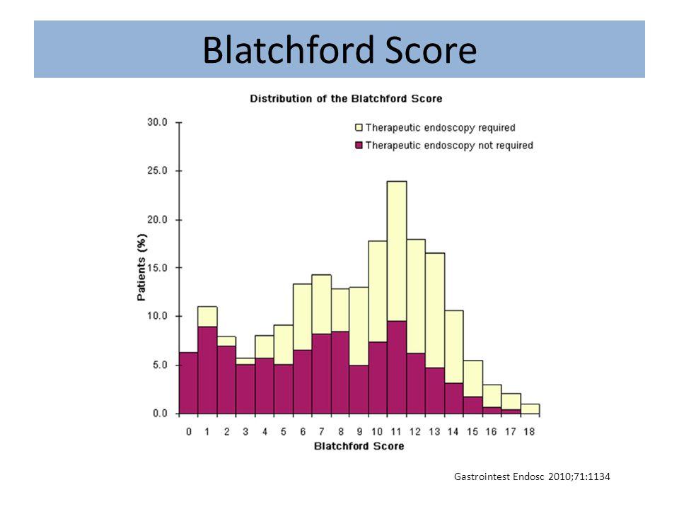 Blatchford Score Gastrointest Endosc 2010;71:1134