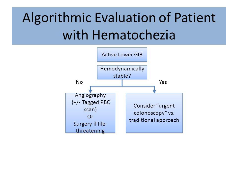 Algorithmic Evaluation of Patient with Hematochezia