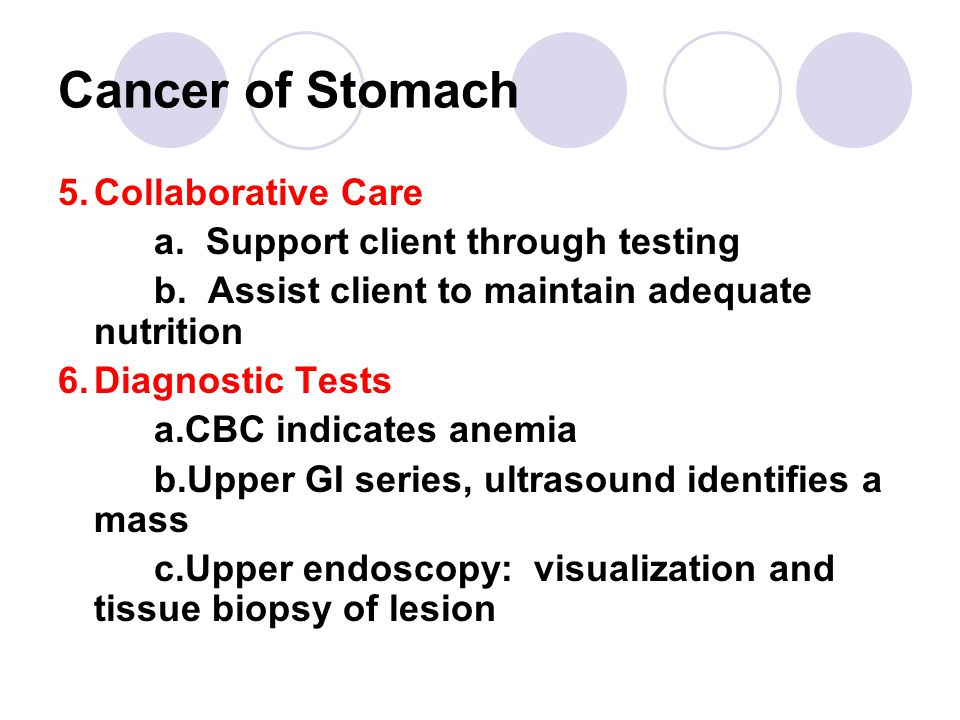 Cancer of Stomach 5. Collaborative Care