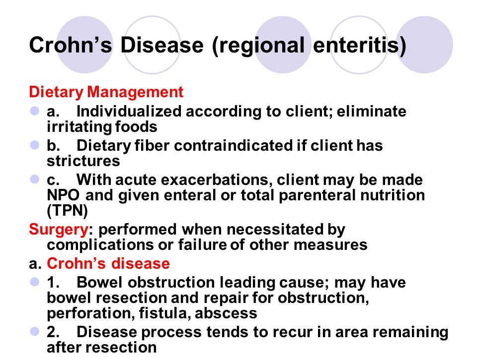 Crohn's Disease (regional enteritis)