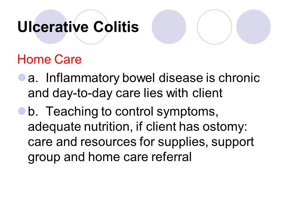 Ulcerative Colitis Home Care