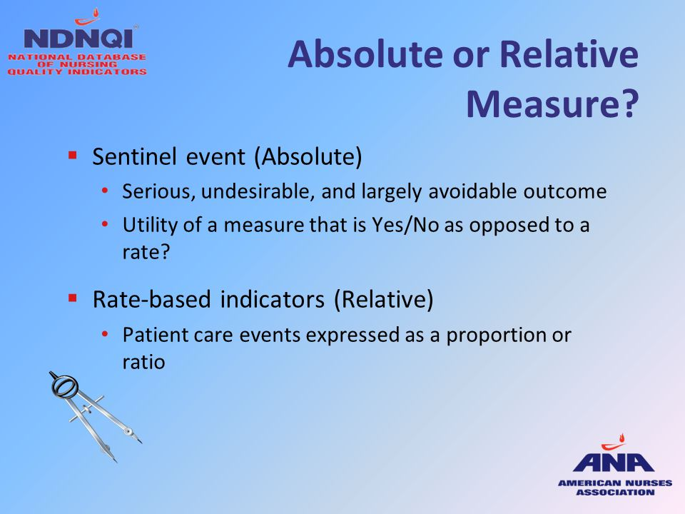 Absolute or Relative Measure
