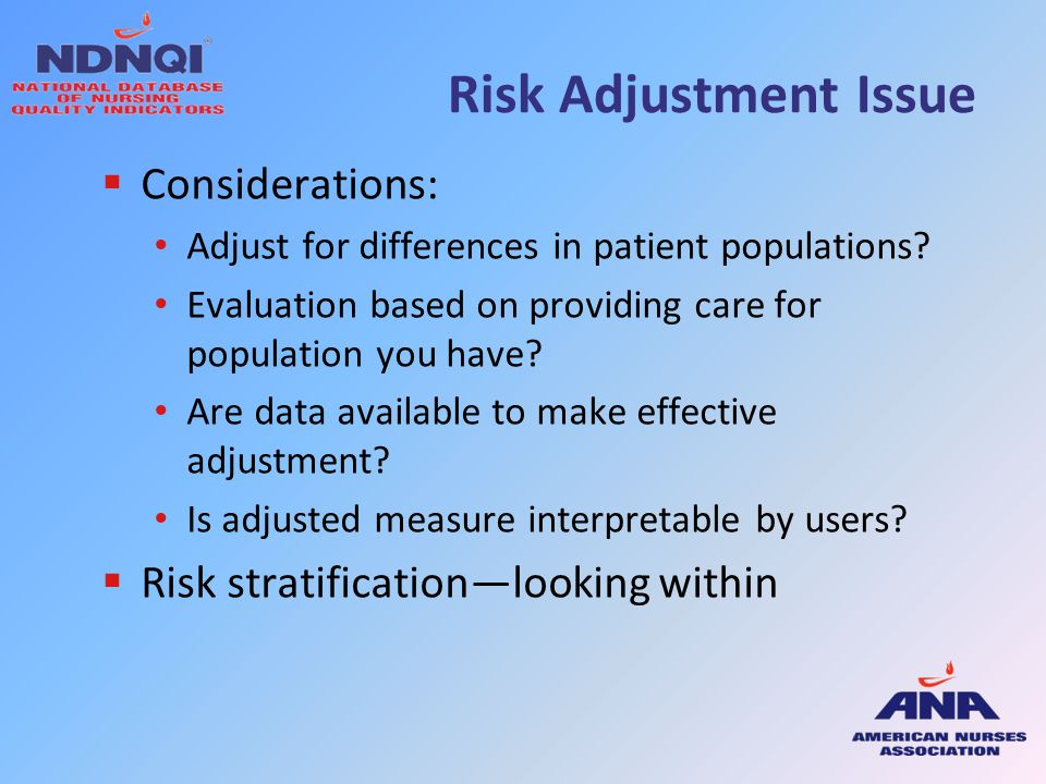 Risk Adjustment Issue Considerations: